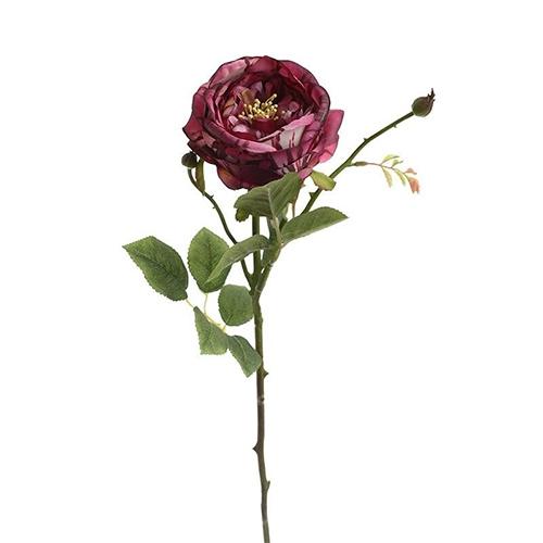 Trandafir decorativ rosu 66 cm chicville 2021