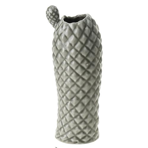 Vaza Cactus din ceramica gri 26 cm chicville 2021