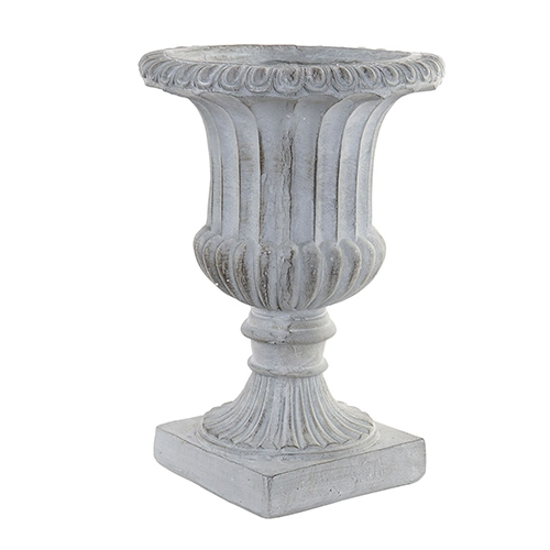 Vaza Grey din fibra de sticla gri 50 cm chicville 2021