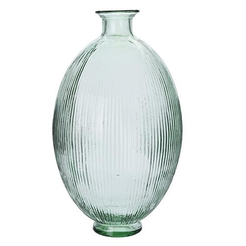 Vaza Lines din sticla reciclata 44 cm chicville 2021