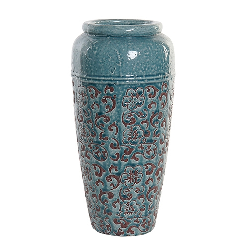 Vaza Teracotta din ceramica turcoaz 40 cm chicville 2021