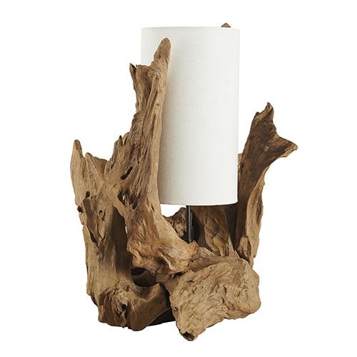 Veioza Natural Root din lemn 36x73 cm chicville 2021